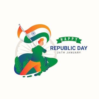 Joyeux jour de l'indépendance de l'inde et célébrations de la fête de la république.
