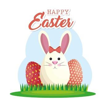 Joyeux lapin joyeuses pâques