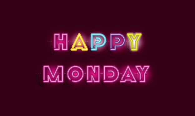 Joyeux lundi polices néons