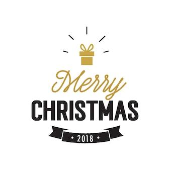 Joyeux noël 2018 avec un cadeau brillant