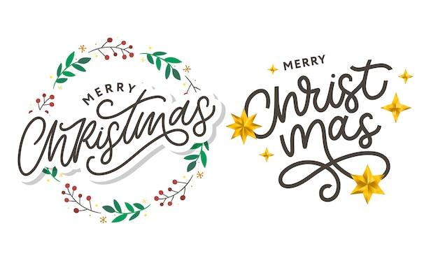 Joyeux noël 2021 belle affiche de carte de voeux avec mot de texte noir de calligraphie.