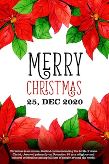Joyeux noël 25 décembre conception de l'affiche