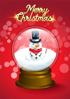 Joyeux noël! bonhomme de neige de noël