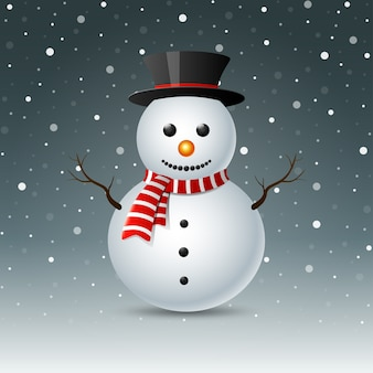 Joyeux noël bonhomme de neige