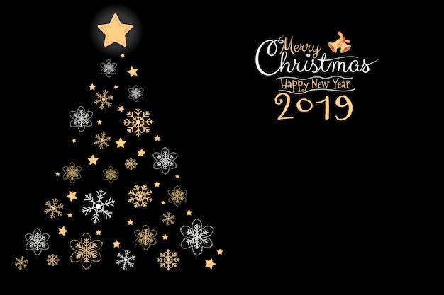 Joyeux noël et bonne année 2019 carte de voeux