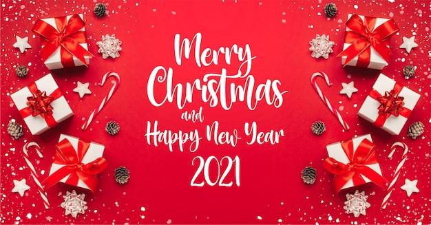 Joyeux noël et bonne année 2021 bannière