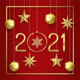 Joyeux noël et bonne année 2021 fond
