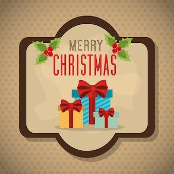 Joyeux noël et bonne année carte design