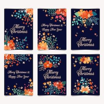 Joyeux noël et bonne année cartes de voeux