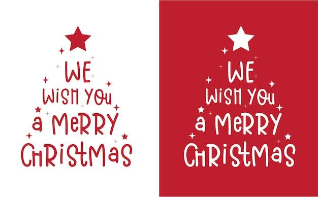 Joyeux noël et bonne année conception de cartes de lettrage dessiné à la main