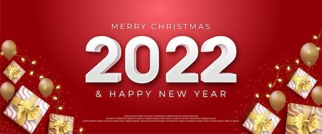 Joyeux noël et bonne année design avec décoration d'élément de noël