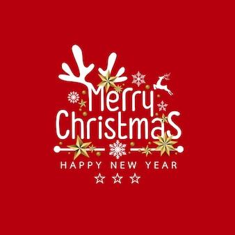 Joyeux noël et bonne année design fond