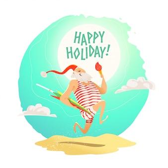 Joyeux noël, bonne année, félicitations. . style de bande dessinée. bon pour la carte postale de noël, la carte, la publicité, l'écorcheur,.