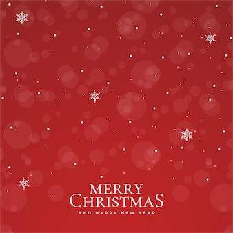 Joyeux noël et bonne année avec fond de bokeh rouge noël réaliste