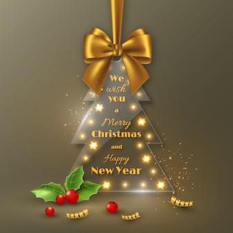 Joyeux noël et bonne année fond de vacances