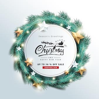 Joyeux Noël Et Bonne Année Fond De Vente Vecteur Premium