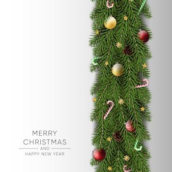 Joyeux noël bonne année fond
