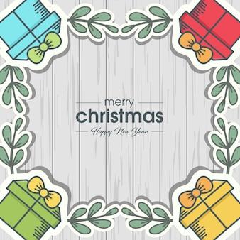 Joyeux noël et bonne année frame design
