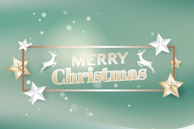 Joyeux noël et bonne année modèle de typographie et flyer de carte de voeux