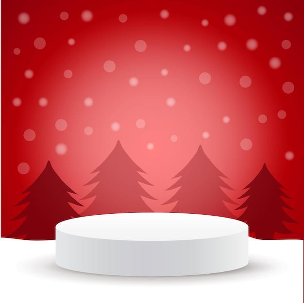 Joyeux noël et bonne année piédestal ou podium de scène