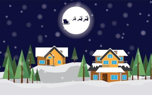 Joyeux Noël, Bonne Année. Vecteur Premium