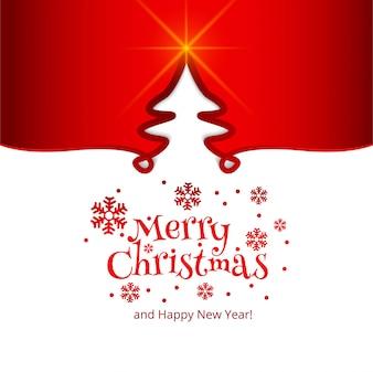 Joyeux Noël carte célébration fond d'arbre