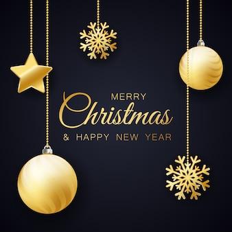 Joyeux noel et carte de nouvel an