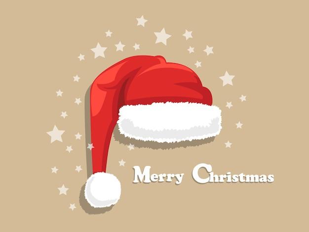Joyeux noël chapeau de père noël isolé sur fond. bonne année et décoration element.vector illustration.