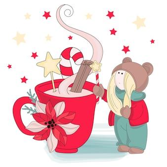 Joyeux Noël couleur Vector Illustration Set