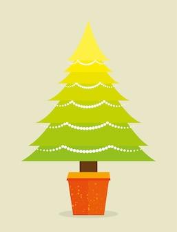 Joyeux noël décoratif et pin