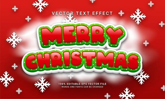 Joyeux noël effet de texte modifiable avec le thème de l'événement natal