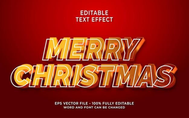 Joyeux noël effet de texte modifiable