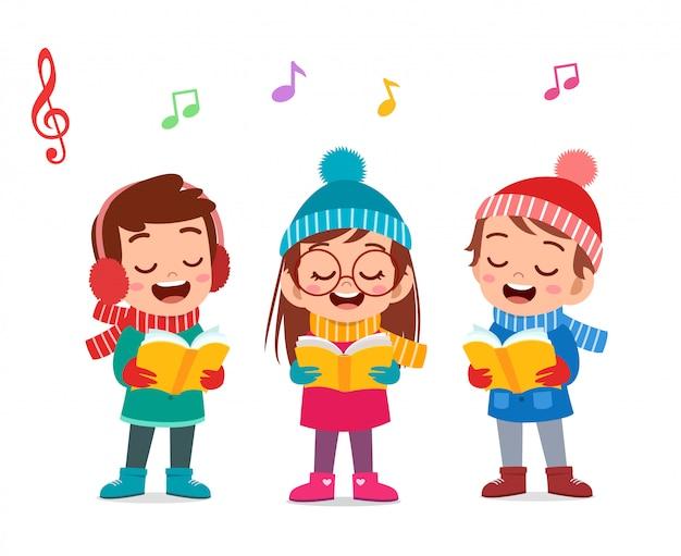 Joyeux noël des enfants chantent musical