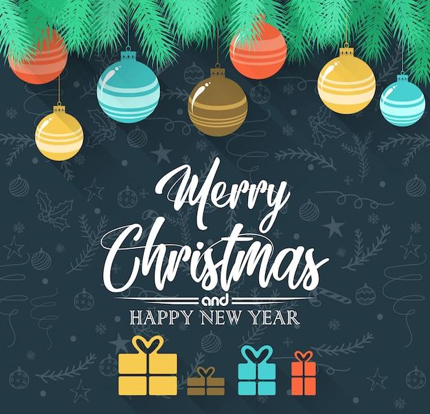 Joyeux noël et fond de bonne année 2019