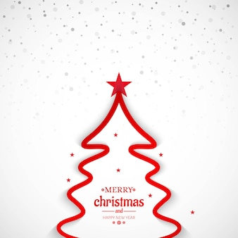 Joyeux Noël fond d'arbre de ligne minimale