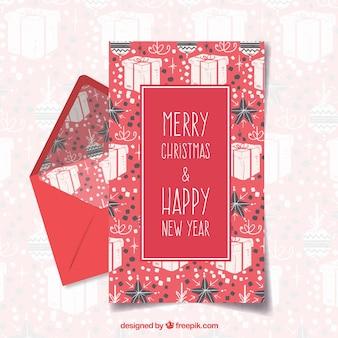 Joyeux noël et joyeuses fêtes dar modèle de lettre rouge