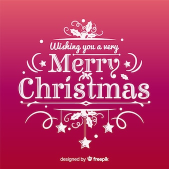 Joyeux Noël lettrage de fond rouge