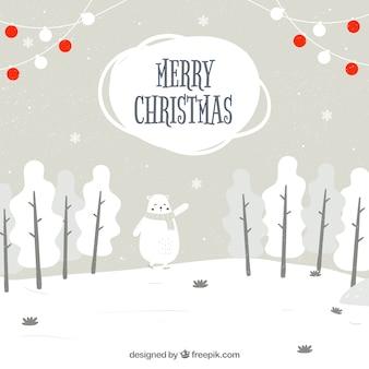 Joyeux Noël mignon fond
