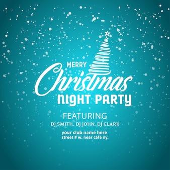 Joyeux noël night party fond