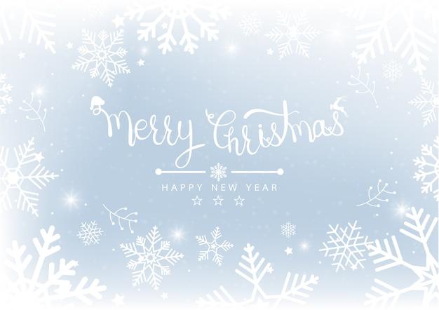 Joyeux noël et nouvel an blur bokeh