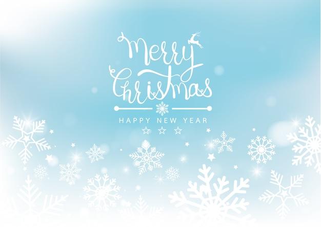 Joyeux noël et nouvel an flou bokeh