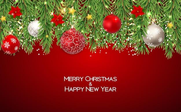 Joyeux noël et nouvel an fond. illustration vectorielle eps10