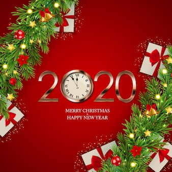 Joyeux noël et nouvel an fond