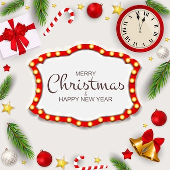 Joyeux noël et nouvel an fond.