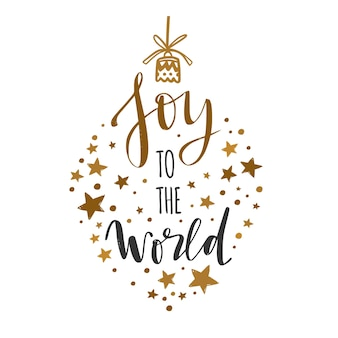 Joyeux noël et nouvel an lettrage