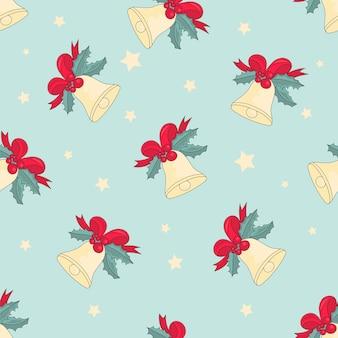 Joyeux noël seamless pattern jingle bells