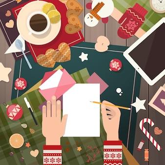 Joyeux noël wish list letter