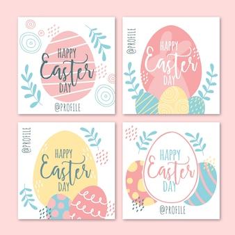 Joyeux oeufs pâques instagram post collection