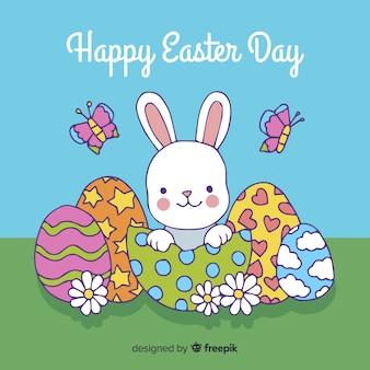 Joyeux pâques jour fond