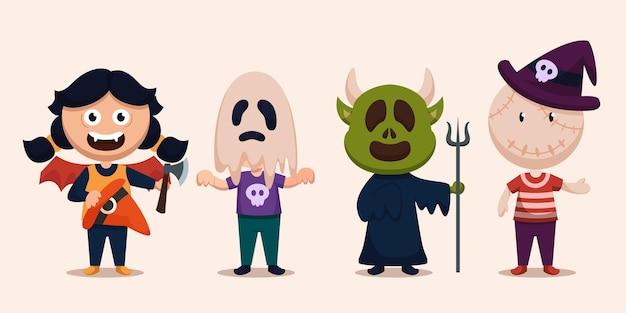 Joyeux personnage de monstre d'halloween pour roman, histoire et illustration